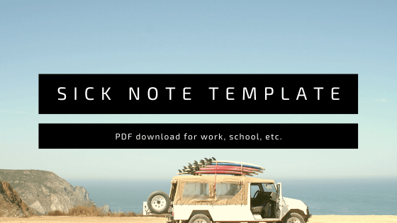 Sick Note Template For Work [PDF, Download]